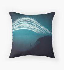 3 month exposure at Beachy head lighthouse UK Throw Pillow