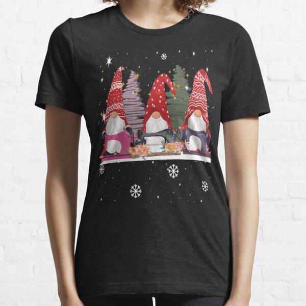 Cute Three gnomes sewing christmas gift Essential T-Shirt