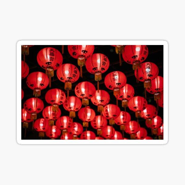 Beautiful Red Lanterns Sticker