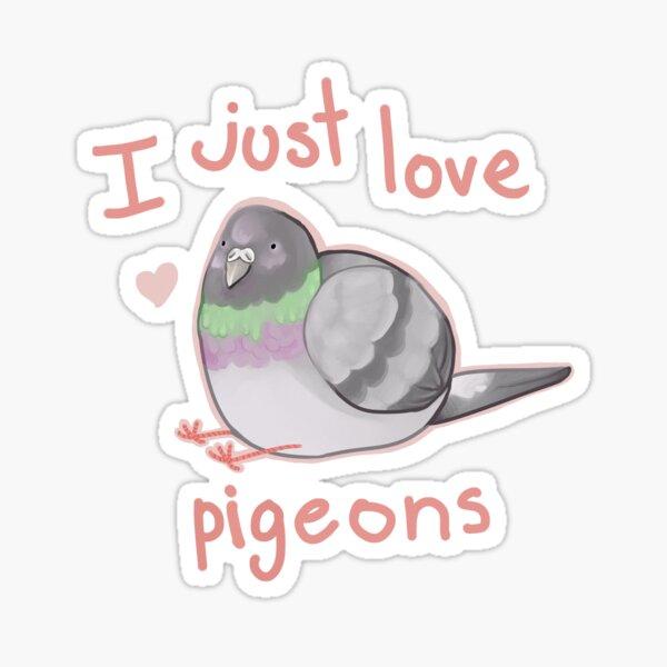 I just love pigeons Sticker