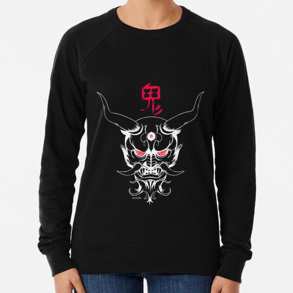 Masque Oni  (Dark version) Sweatshirt léger