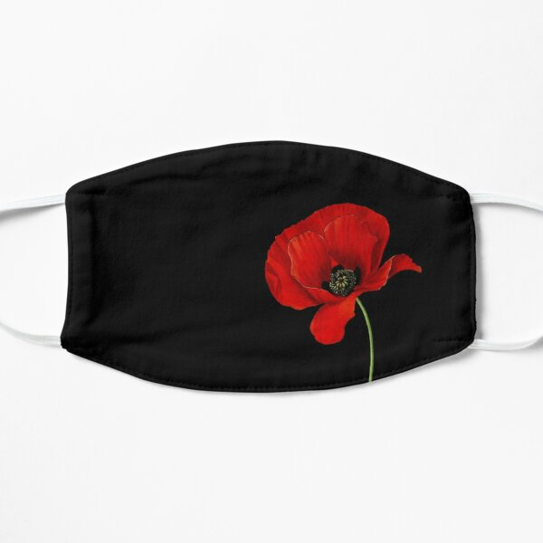 remembrance poppy Flat Mask