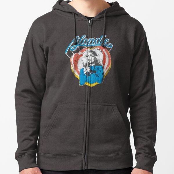 Blondie Distressed Design Zipped Hoodie