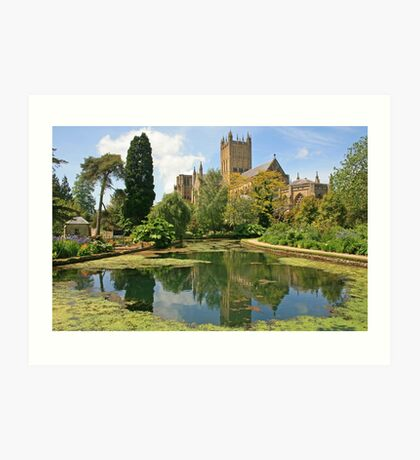 Bishop's Palace Garden, Wells Art Print