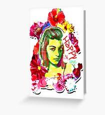 Beautiful Flower hippy girl Greeting Card