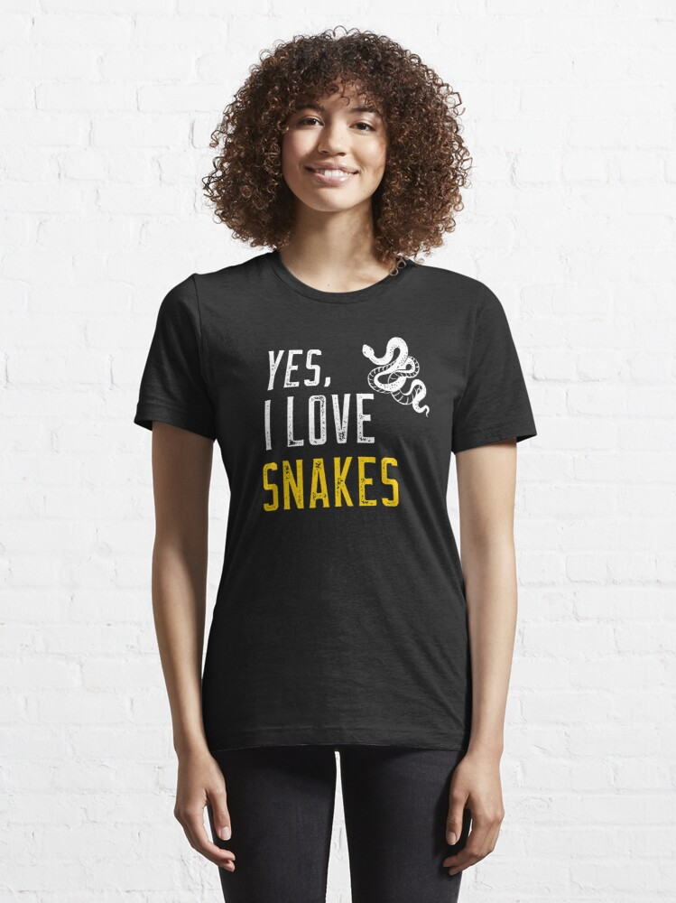 Alternate view of Yes, I love snakes Essential T-Shirt