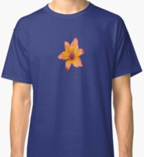 Coral Lily on White Classic T-Shirt