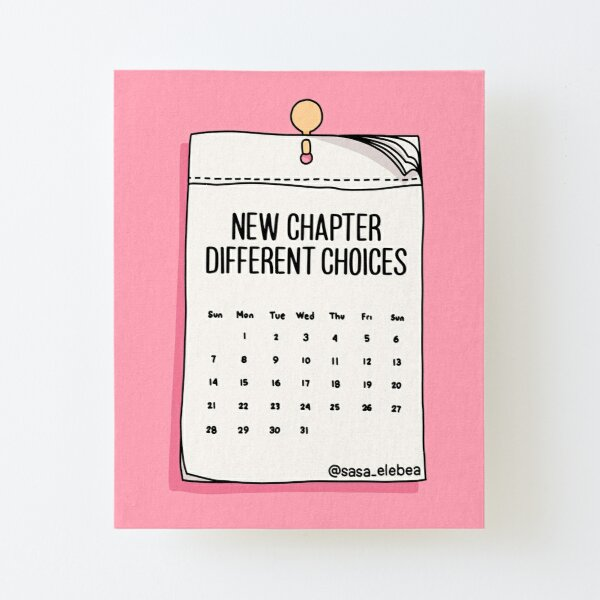 New chapter by Sasa Elebea Canvas Mounted Print
