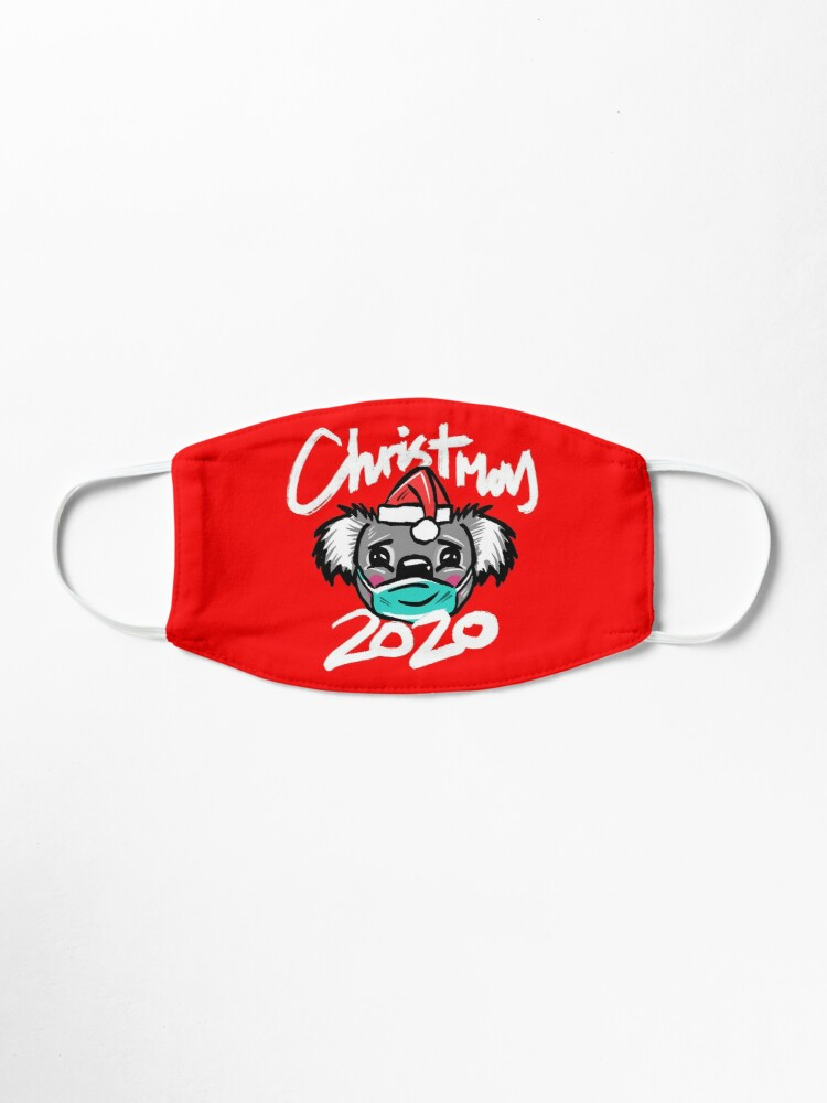 Alternate view of Australian Christmas 2020 T-Shirt, Christmas Koala Tee with Aussie Koala wearing a Face Mask and Christmas Hat, Funny Christmas Shirt for Aussies Mask