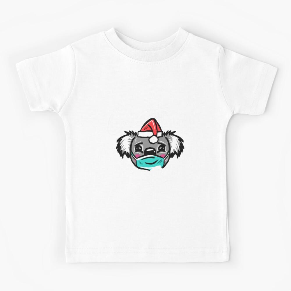 Australian Christmas 2020 T-Shirt, Christmas Koala Tee with Aussie Koala wearing a Face Mask and Christmas Hat, Funny Christmas Shirt for Aussies Kids T-Shirt
