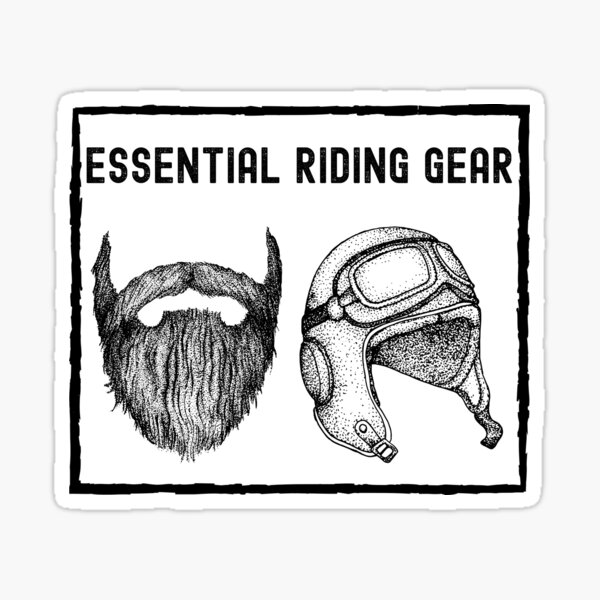 Essential Riding Gear Sticker