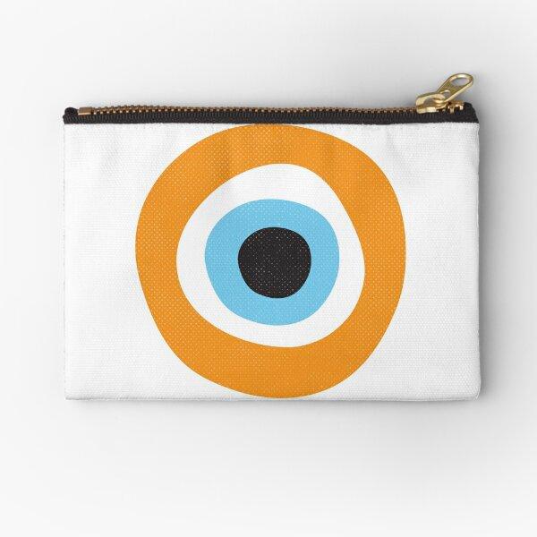 Orange Evil Eye Symbol Zipper Pouch