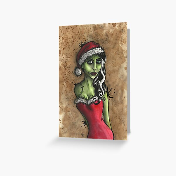 Bride of Frankenstein Christmas Greeting Card