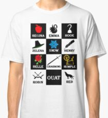 OUAT T-Shirt. Regina, Emma, Hook, Zelena, Snow, Henry, Belle, Charming, Rumple, Robin, Red Classic T-Shirt