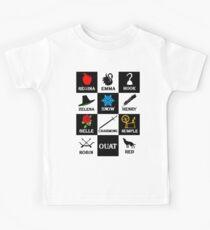 Oncer T-Shirt. Regina, Emma, Hook, Zelena, Snow, Henry, Belle, Charming, Rumple, Robin, Red Kids Clothes