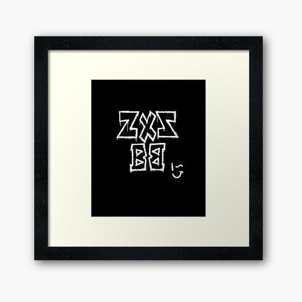 Zxz Bb Wink Sweatshirt Framed Art Print