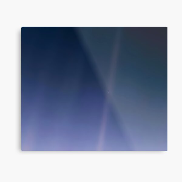 Pale Blue Dot, Enhanced. Voyager 1's image of Earth. Metal Print