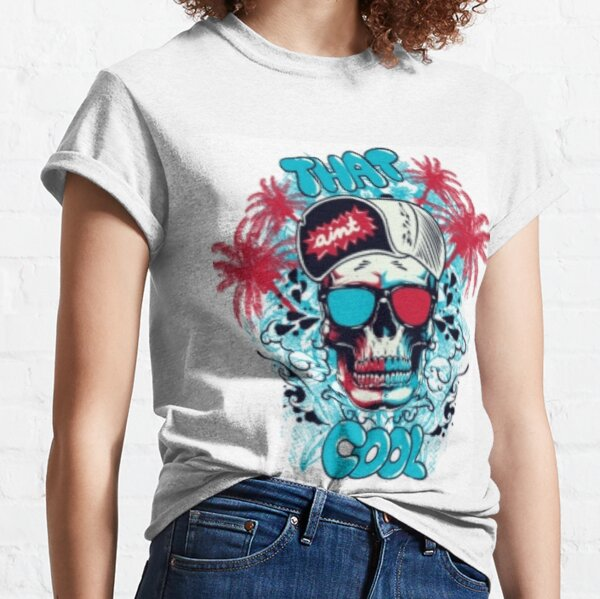 SKULL WITH SUNGLASSES AND CAP Classic T-Shirt