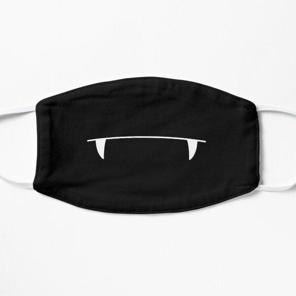 Cute, Funny Vampire Fangs White Teeth (Black) Flat Mask