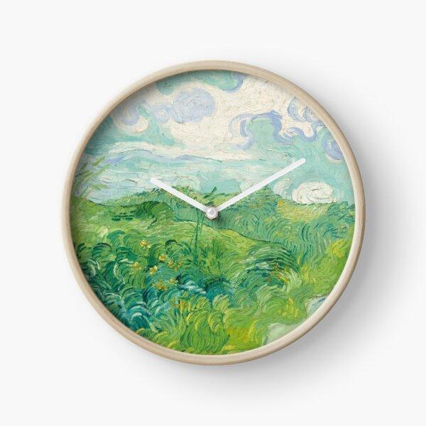 Vincent Van Gogh Green Wheat Fields, Auvers 1890  Clock