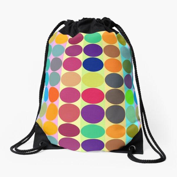 Dots and Lines Modular Pattern Drawstring Bag