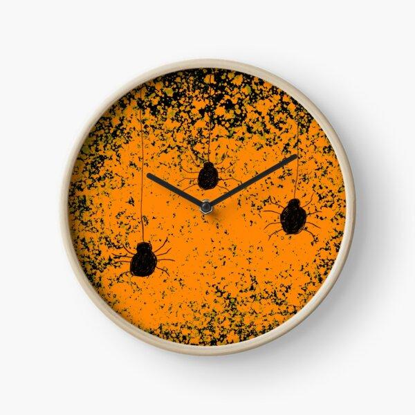 Halloween spiders Clock