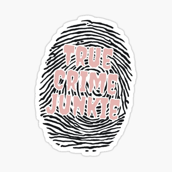 True Crime Junkie - Pink Sticker