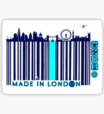 BARCODED IN LONDON Sticker
