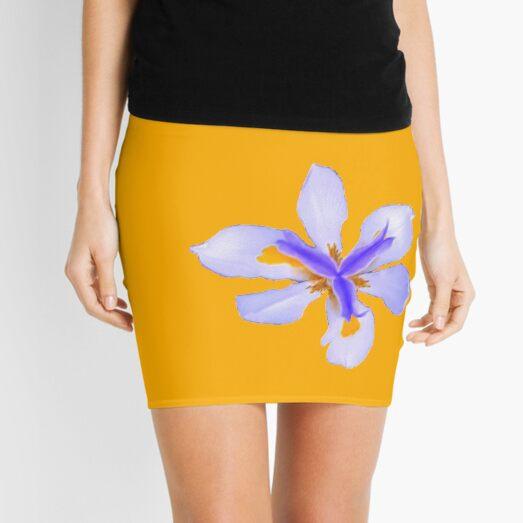 Wild Iris in yellow Mini Skirt