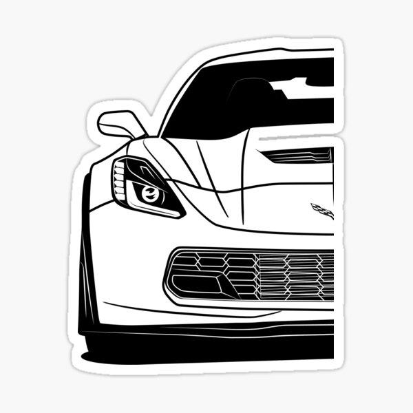 Corvette C7 Z06 Meilleur design de chemise Sticker