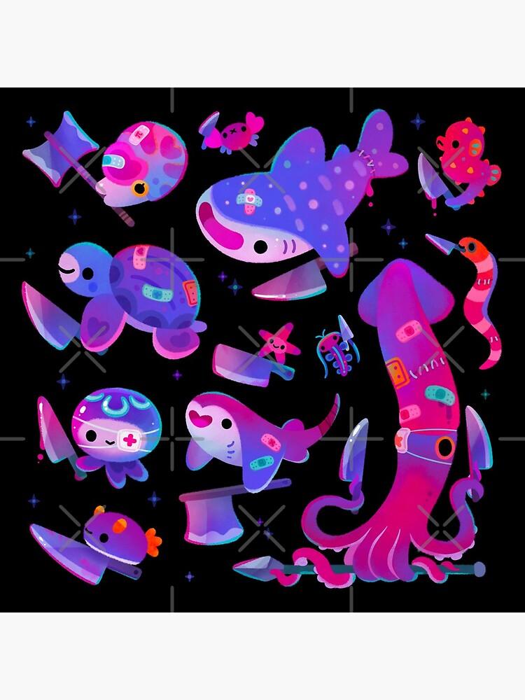Stabby marine life by pikaole