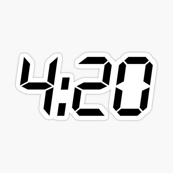 420 negro Pegatina