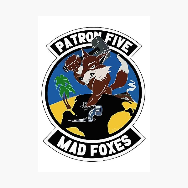 Model 49 - Patrol Squadron FIVE (VP-5) - Mad Foxes Photographic Print