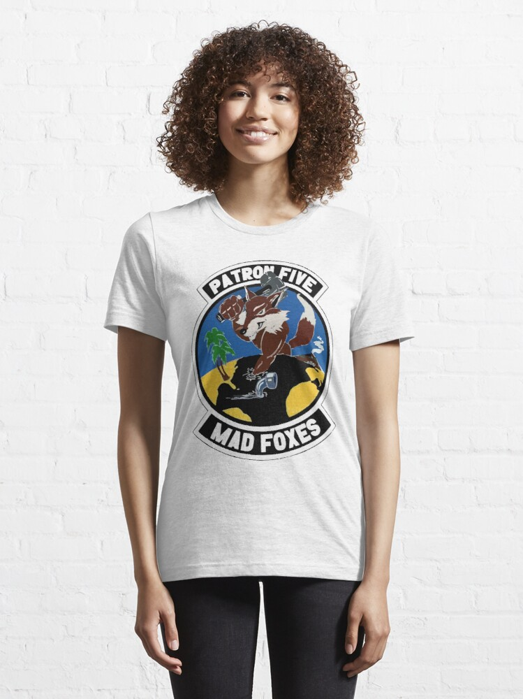 Alternate view of Model 49 - Patrol Squadron FIVE (VP-5) - Mad Foxes Essential T-Shirt