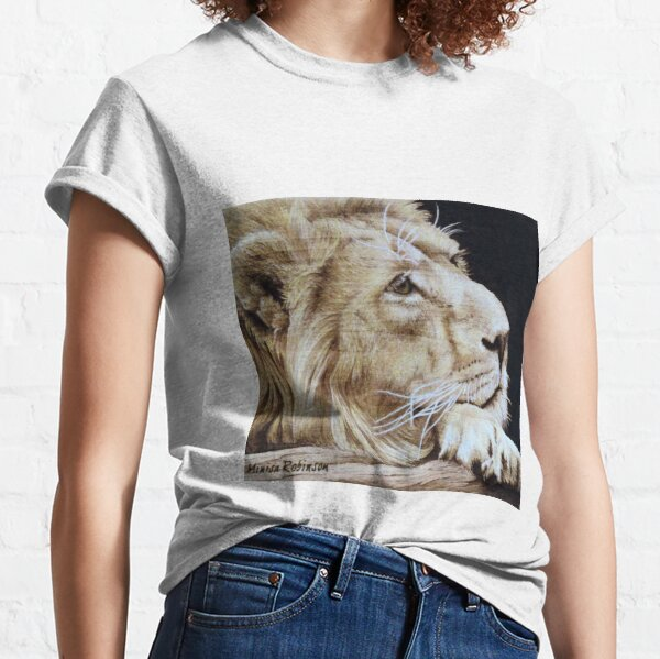 African Lion by Minisa Robinson Classic T-Shirt