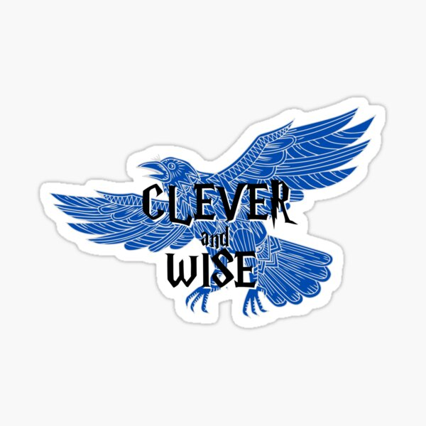 Raven Clever and Wise Sticker
