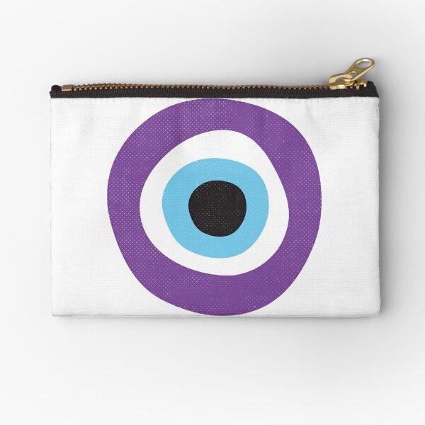 Purple Evil Eye Symbol Zipper Pouch