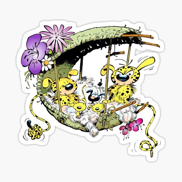 Marsupilami au nid en famille Sticker