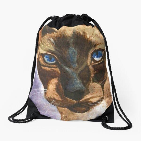 Piercing Blue Drawstring Bag