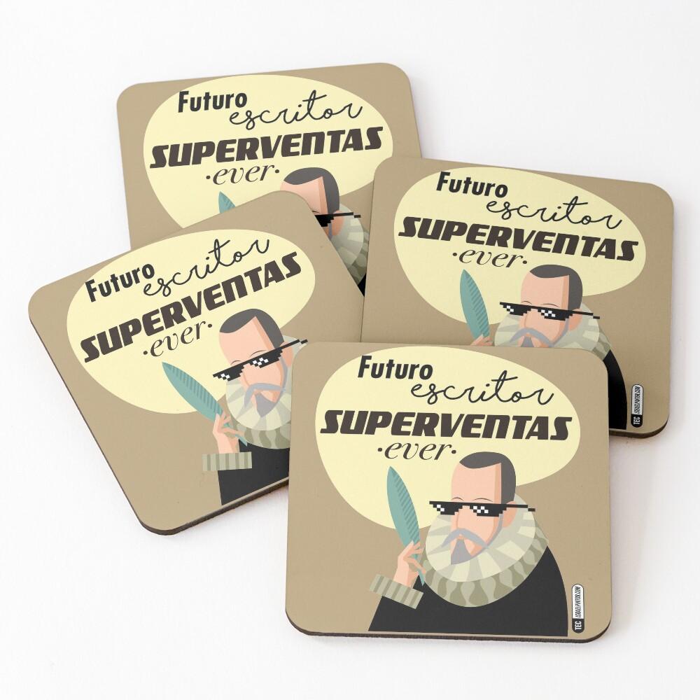 Futuro escritor superventas ever Posavasos (lote de 4)