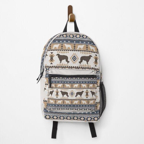 Boho dogs   Borzoi/ Russian wolfhound tan Backpack