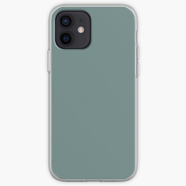 Cool Tropical Blue-Green Solid Color Pairs To Benjamin Moore Aegean Teal 2136-40 2021 Color of the Year iPhone Soft Case