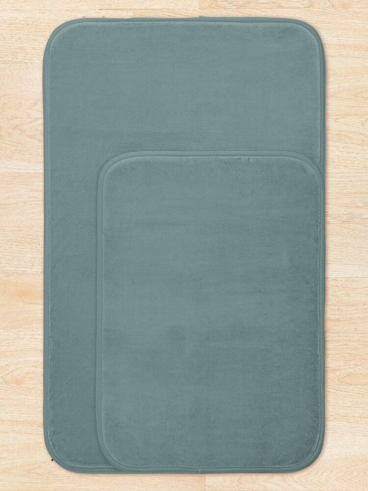 Alternate view of Cool Tropical Blue-Green Solid Color Pairs To Benjamin Moore Aegean Teal 2136-40 2021 Color of the Year Bath Mat