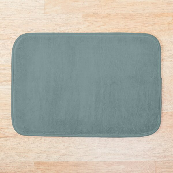 Cool Tropical Blue-Green Solid Color Pairs To Benjamin Moore Aegean Teal 2136-40 2021 Color of the Year Bath Mat