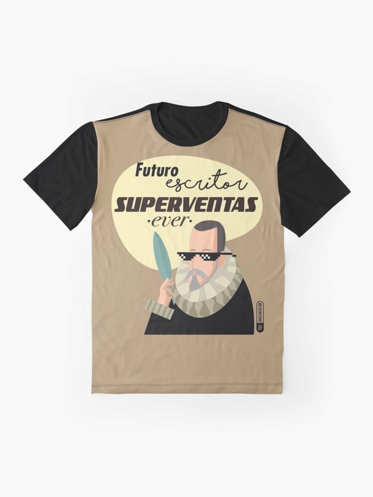 Vista alternativa de Camiseta gráfica Futuro escritor superventas ever