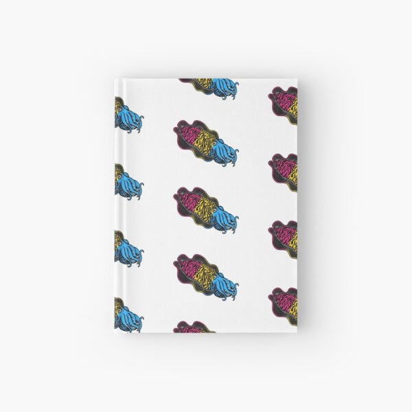 Pansexual Pride Cuttlefish Hardcover Journal