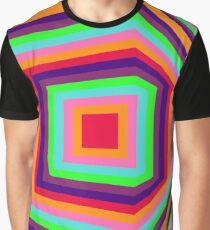 Around the corner, geometrical abstract colourful op art Graphic T-Shirt