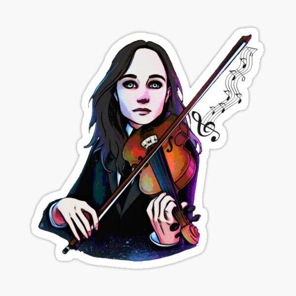 Wanja mit Geige Sticker