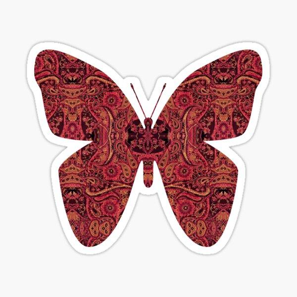 Paisley Design in Autumn Tones Sticker