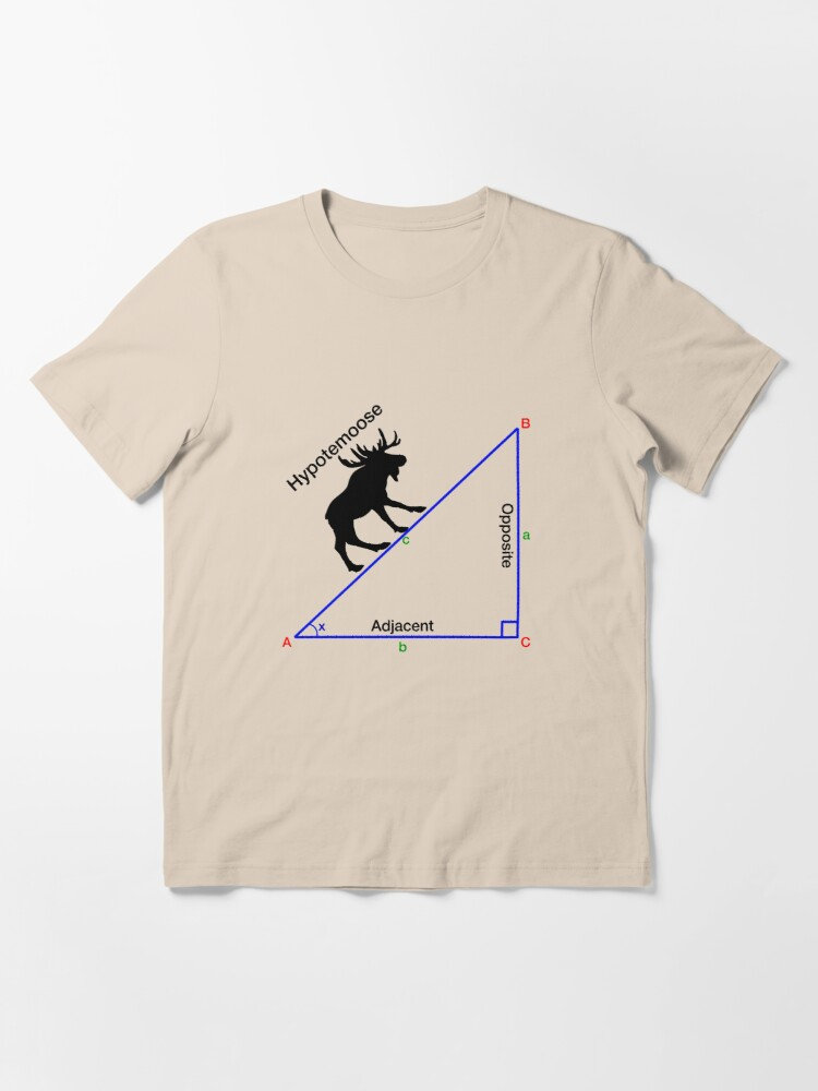 Alternate view of Hypotemoose, Math Humor. Essential T-Shirt